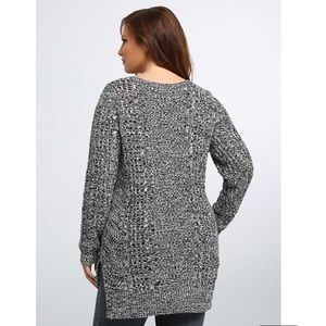 TORRID | Marled Knit Cable Stitch Sweater 3 3X